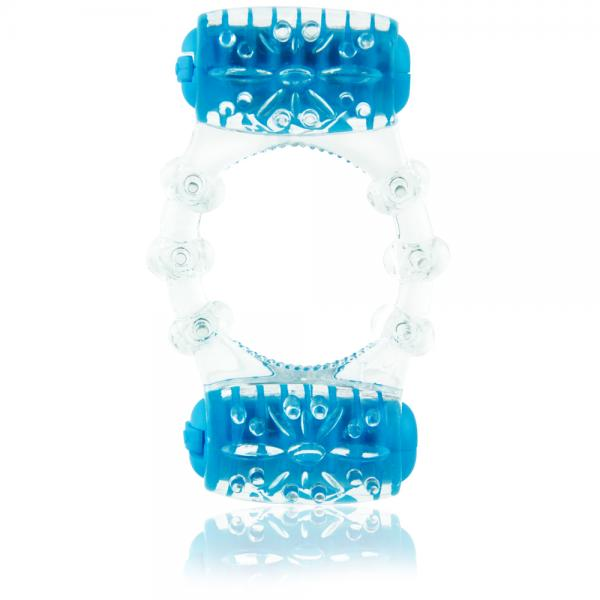 Color Pop Quickie Two O Blue Vibrating Ring