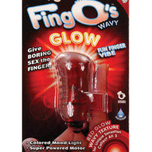 The FingO Glow - Finger-Fitting Light-Up Mini Massager - Red
