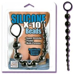 Silicone X-10 Beads - Black