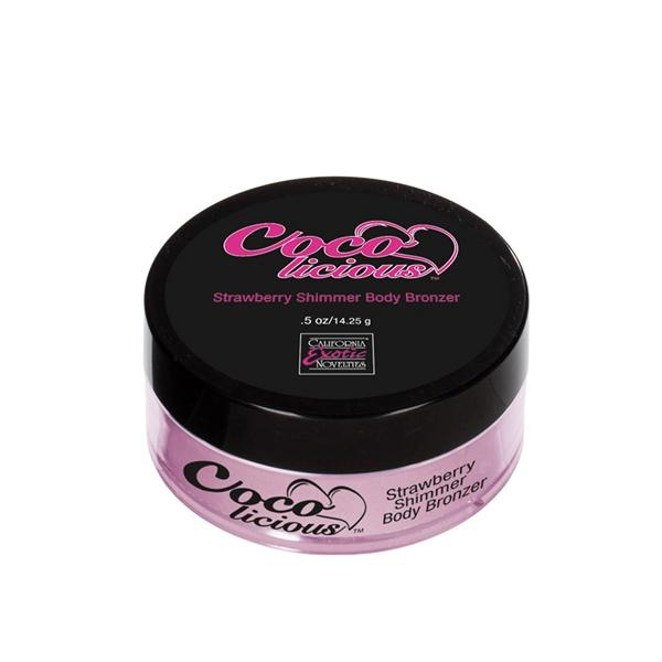 Cocolicious Strawberry Shimmer Body .5oz