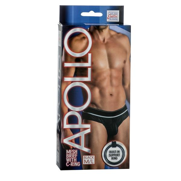 Apollo Mesh Brief with C-Ring Black M/L