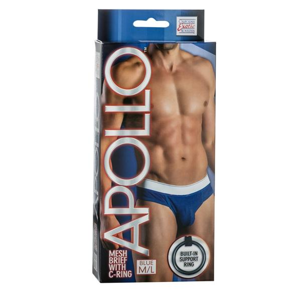 Apollo Mesh Brief with C-Ring Blue M/L