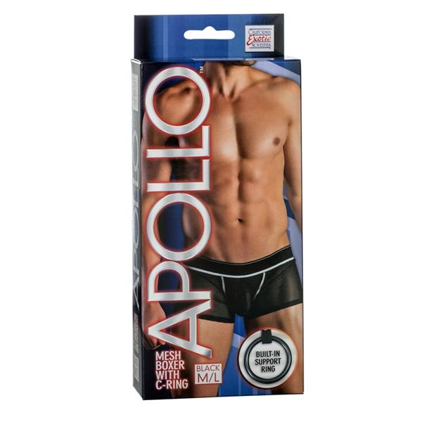 Apollo Mesh Boxer with C-Ring Black M/L