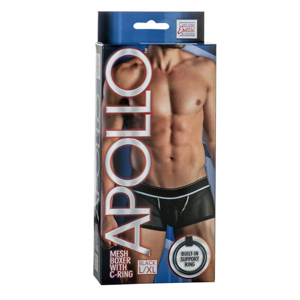 Apollo Mesh Boxer with C-Ring Black L/XL