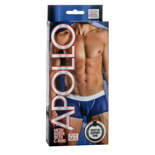 Apollo Mesh Boxer with C-Ring Blue M/L