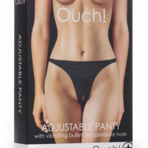 Ouch Adjustable Panty with Vibrating Bullet Black