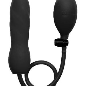 Ouch Inflatable Silicone Twist Black Probe