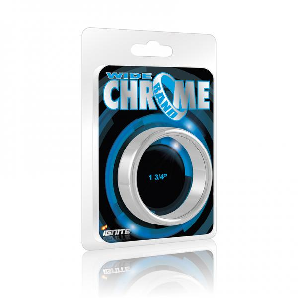 "Wide Chrome Band 1.75"" Ring"