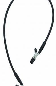 Blackline Endurance Teaser Nipple Clamps With Rubber Tether - Black