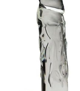 """Large 9"""" Realistic Glass Dildo - Clear"""
