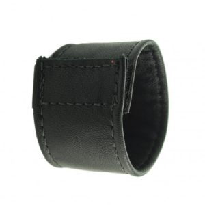C And B Gear Velcro Stretcher Leather 1.5 Inch - Black
