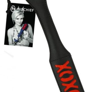 Sex And Mischief XOXO Paddle Black 12 Inches