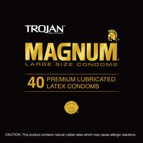 Trojan Magnum Latex Condoms 40 Pieces Canister