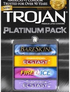 Trojan Platinum Pack Assorted Condoms - 10 pack