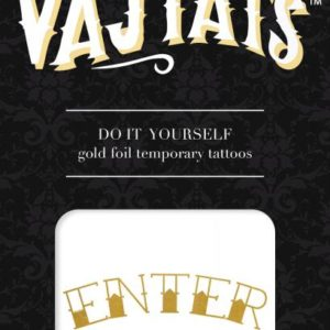 Gold Foil Tattoo Enter