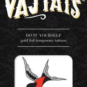Gold Foil Tattoo Swallow