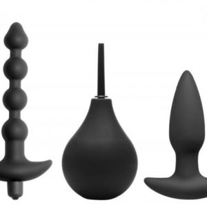 Prevision 4 Piece Silicone Anal Kit Black