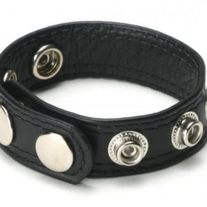 Speed Snap Cock Ring Black Leather